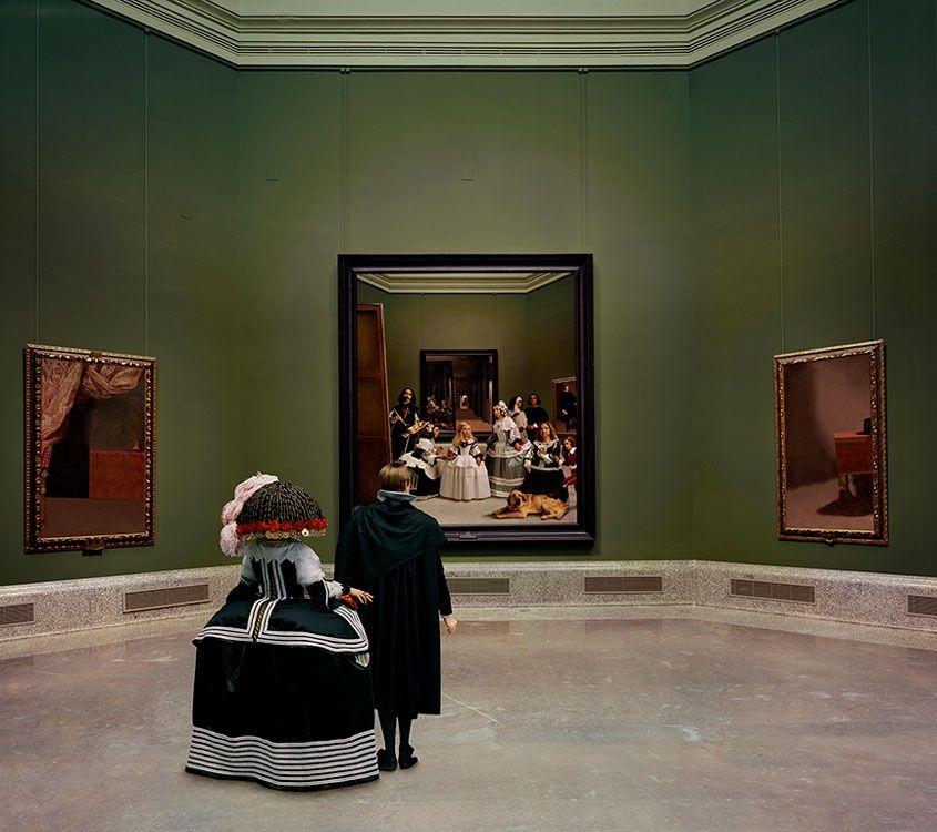 La escena en Las Meninas de Velázquez